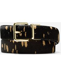 """Cole Haan 1"""" Reversible Haircalf/Leather Belt black - Lyst"""