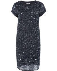 Day Birger Et Mikkelsen Blue Rain Sequin Chiffon Column Dress - Lyst