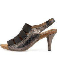 Anyi Lu - Brigitte Stretch-strap Cork Sandal - Lyst