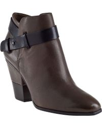 Dolce Vita Hilary Ankle Boot Olive Leather - Lyst
