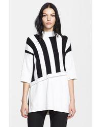 3.1 Phillip Lim Stripe Contrast Layered Sweater - Lyst