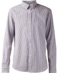 A.P.C. Purple Striped Shirt - Lyst
