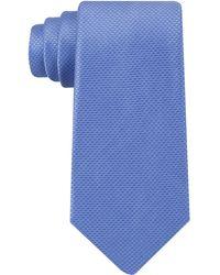DKNY Tie Micro Solid Slim Tie - Blue
