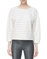 L'Agence Woolblend Stripe Cocoonsleeve Top - Lyst