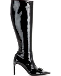 Balenciaga Patent Leather Boots - Lyst