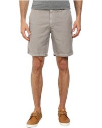 AG Adriano Goldschmied Wanderer Cotton-Linen Blend Shorts In Sulfur Shale - Lyst