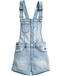 H&M Superstretch Bib Shorts - Lyst