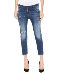 DSquared2 Cool Girl Cropped Jeans - Blue - Lyst