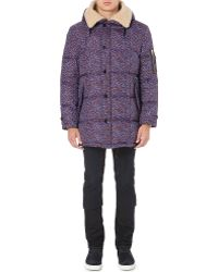 PS by Paul Smith Quilted Camo Coat Purple - Lyst