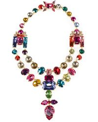 Ralph Lauren Swarovski Teardrop Necklace multicolor - Lyst