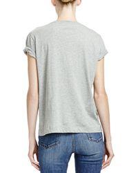 Stella McCartney T-Shirt With Superhero Lace Appliqué - Gray