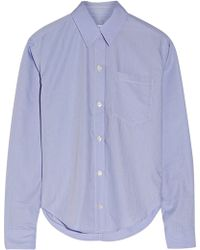 Title A - Pinstriped Poplin Shirt - Lyst