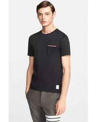 Thom Browne Jersey Pocket T-Shirt - Lyst