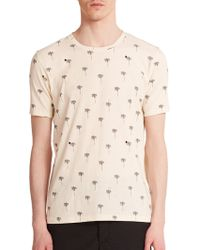 Rag & Bone Palm Tree Print Cotton Tee white - Lyst