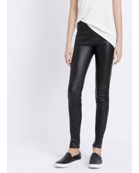 Vince Leather Legging With Ankle Zip - Lyst