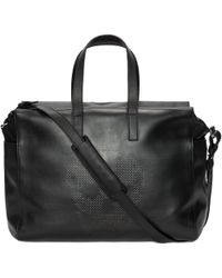Alexander McQueen Leather Perforated Skull Duffle Bag - Lyst