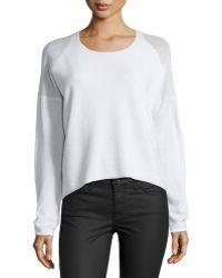 Helmut Lang Oversized Plush Blend Sweater - Lyst