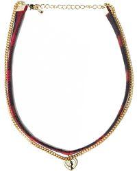 Pixie Market - Plaid Double Chain Choker - Lyst