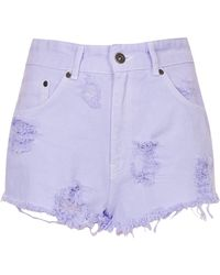 TOPSHOP - Candy Rage Denim Shorts By The Ragged Priest - Lyst