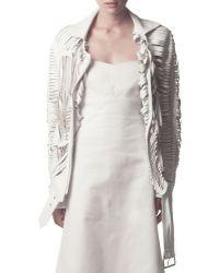Acne Studios Slit Leather Jacket - Lyst