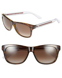 Gucci 57Mm Bio Based Sunglasses - Havana Crystal/ Brown Gradient - Lyst