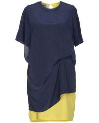 Acne Studios Blue Short Dress - Lyst