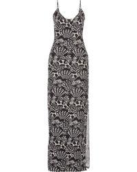 Matthew Williamson Starprint Silk Gown - Lyst