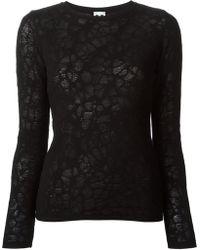 M Missoni Open Knit Detail Sweater - Lyst