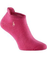 Ralph Lauren Golf - Heel Tab Cushion Soft Socks 3 Pack - Lyst