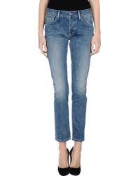 Philosophy di Alberta Ferretti Denim Trousers - Lyst