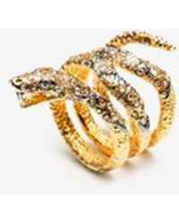 Alexis Bittar - Diamondback Snake Crystal Pyrite Ring - Lyst