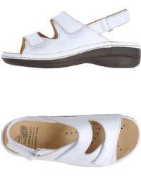 Scholl White Sandals - Lyst