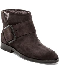 Sigerson Morrison Suna 2 Bootie with Fur - Lyst
