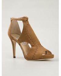 Jimmy Choo Brown 'Tinsay' Sandals - Lyst