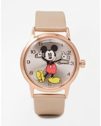 Disney - Rose Gold Mickey Mouse Watch - Lyst