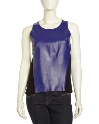 Sachin & Babi Color-Block Knit/Leather Tank - Lyst