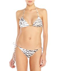 Balmain Leopard Print String Bikini - Lyst