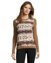 YAL New York - Animal Printed Sweater - Lyst