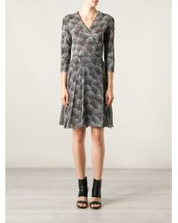 Diane Von Furstenberg Spray Dot Print Crepe Dress - Lyst