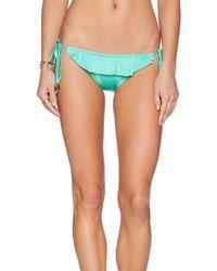Shoshanna Spearmint Ruffle String Bikini Bottoms - Lyst