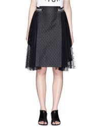 Chictopia - Floral Jacquard Panel Lace Skirt - Lyst