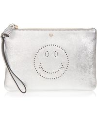 Anya Hindmarch - Smiley Zip Top Pouch - Lyst