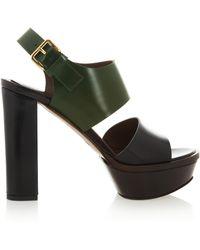 Marni Leather Platform Sandals - Lyst