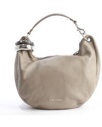 Jimmy Choo Pebble Leather Solar Shoulder Bag - Lyst