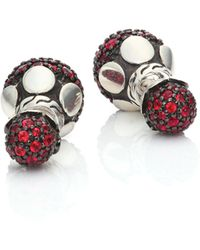 John Hardy   Dot Red Sapphire & Sterling Silver Double-sided Stud Earrings   Lyst