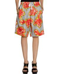 Jonathan Saunders - Clara Tulip-print Silk-twill Shorts - Lyst