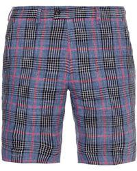 Michael Bastian - Checked Linen Shorts - Lyst