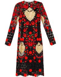 Dolce & Gabbana Embroidered Macramé-lace Dress - Lyst