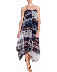 Twelfth Street Cynthia Vincent Handkerchief Midi Dress - Lyst