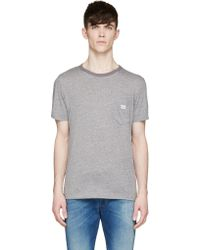 Diesel Grey Slub T_Jou Slub T_Shirt - Lyst